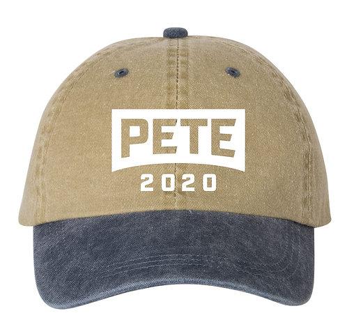 Pete 2020 Baseball Hat | Khaki/Navy