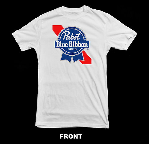 Pabst Blue Ribbon Classic Logo T Shirt | Vintage Beer T Shirts