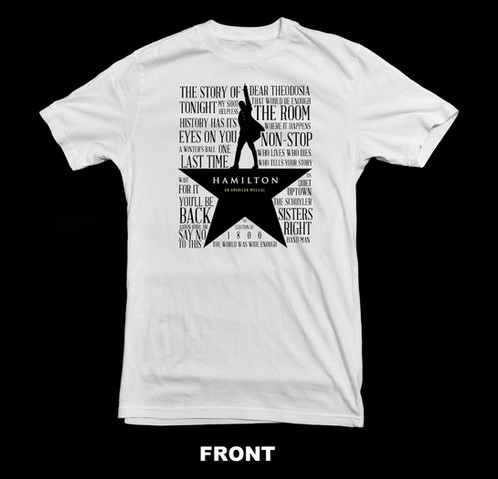 Hamilton The Musical Broadway T Shirt Custom T