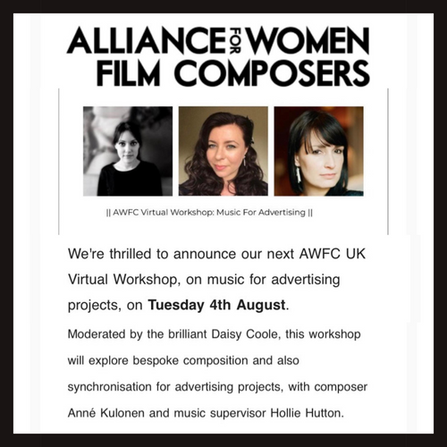 Daisy Coole hosts Alliance for Women Film Composers event