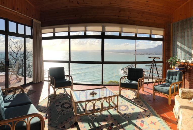 Sunroom with sea views