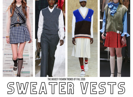 FALL 2020 RUNWAY TRENDS: SWEATER VESTS