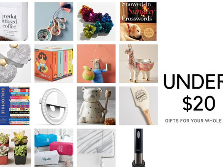 HOLIDAY GIFT GUIDE: GIFTS UNDER $20 FOR PEOPLE ALL OVER YOUR LIST
