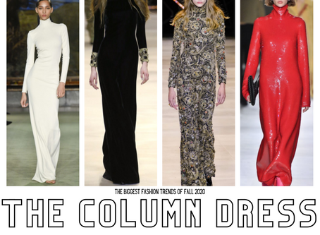 FALL 2020 RUNWAY TRENDS: SLINKY COLUMN DRESSES