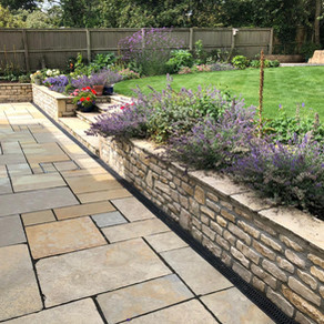 Transformed Garden Using Natural Stone & Paving