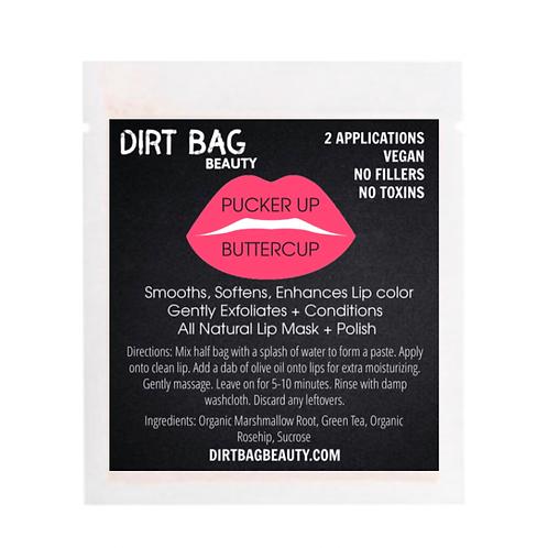 Dirt Bag Beauty Lip Mask - Pucker Up Buttercup