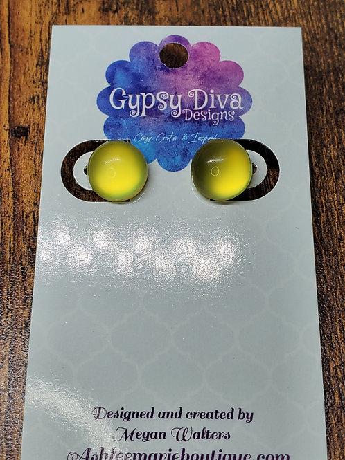 Yellow Bubbles Post Earrings