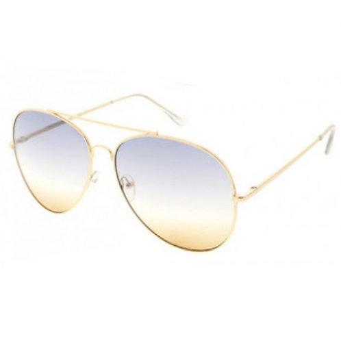 Aviator Sunnies - Blue/Brown Ombre Lens