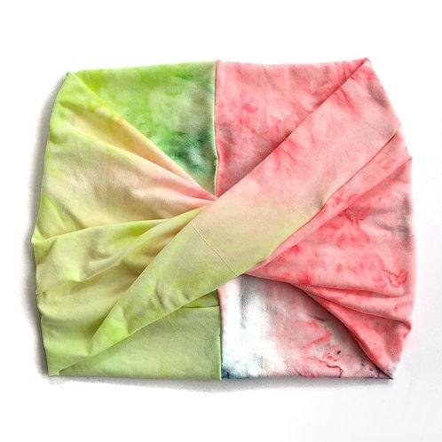 Wide Headband - Neon Tie Dye