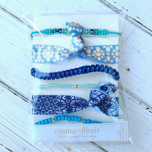Blue For You - Hair Tie Bracelet Stacks
