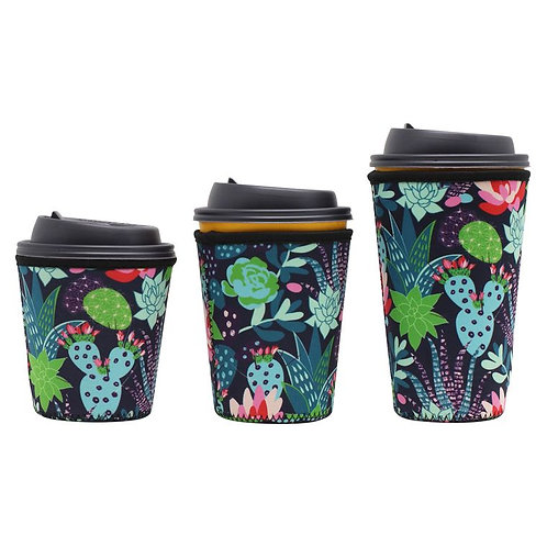 Insulated Drink Sleeve - Floral Cactus SMALL