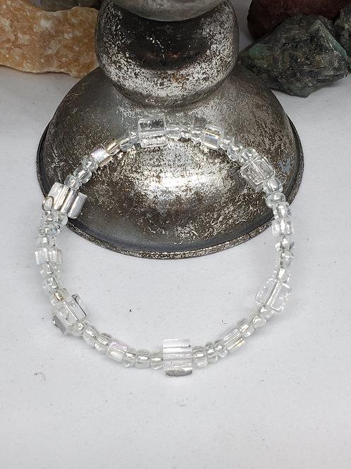 Crystal Ice Cube Beaded Bracelet