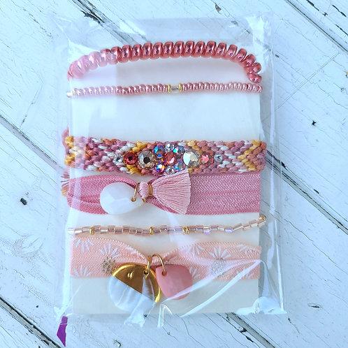 Rose Gold - Hair Tie Bracelet Stacks