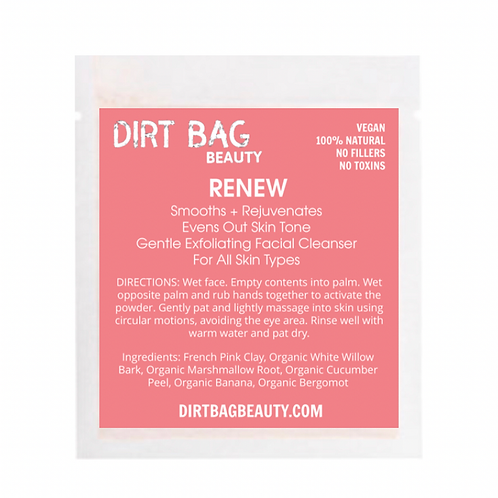 Dirt Bag Beauty Exfoliating Face Cleanser - Renew
