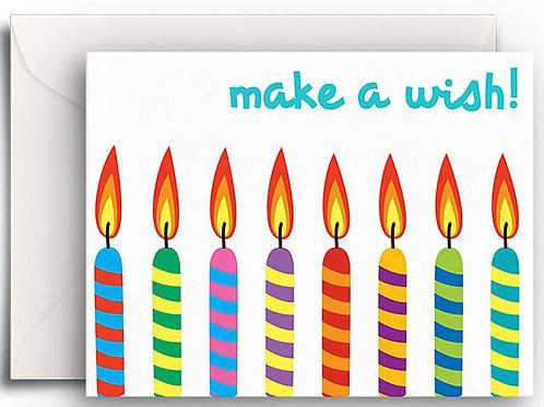 Small Greeting Card - Make a Wish Birthday