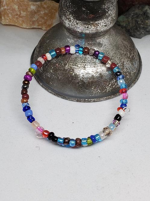 Gypsy Multi-Colored Beaded Bracelet