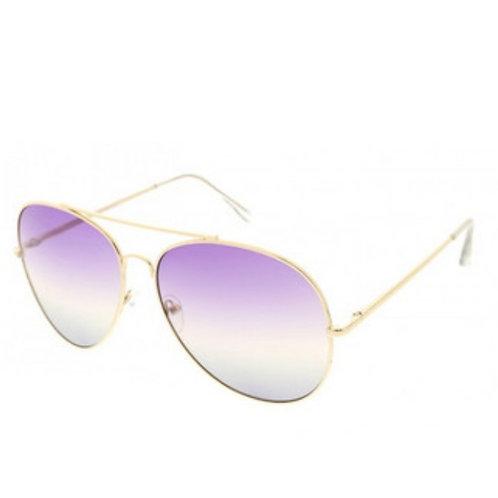 Aviator Sunnies - Purple/Grey Ombre Lens