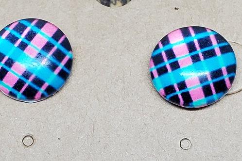 Blue, Pink, & Black Plaid Posts