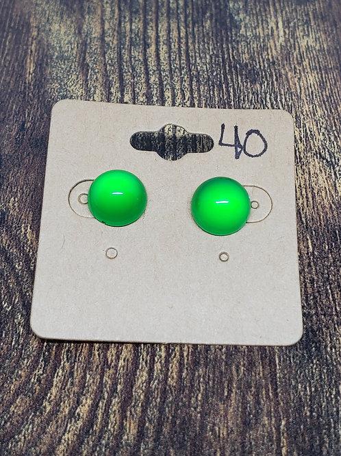 Green Bubbles Post Earrings