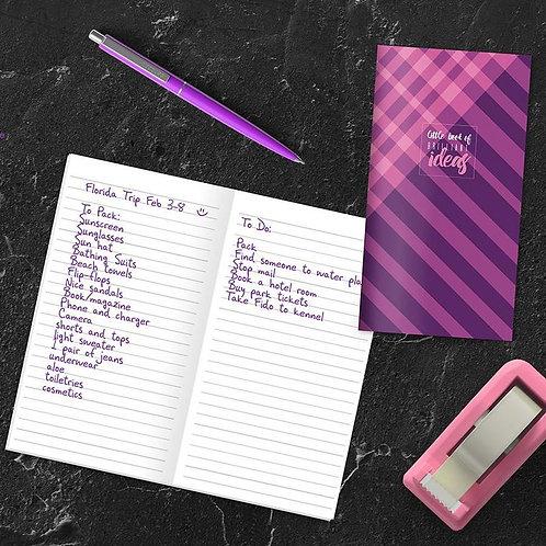 Violet Argyle Note Jotter
