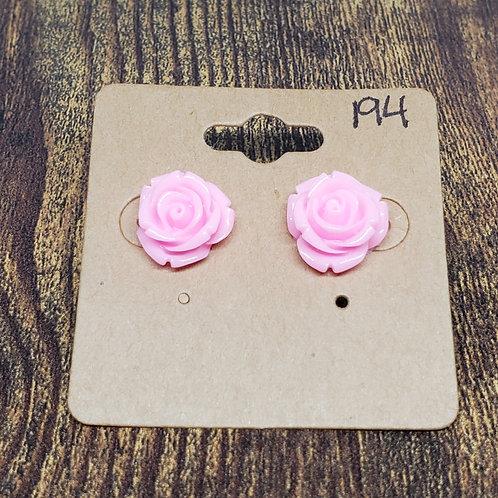 Light Pink Roses Post Earrings