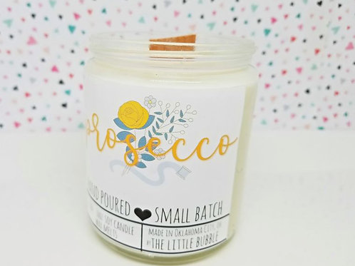 Prosecco - 8 oz Wood-Wick Soy Candle