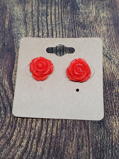 Red Roses Post Earrings