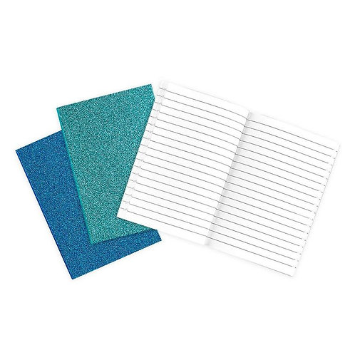 Oh My Glitter! Aquamarine & Sapphire Notebook