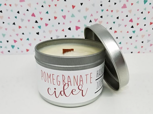 Pomegranate Cider - Wood-Wick Soy Candle