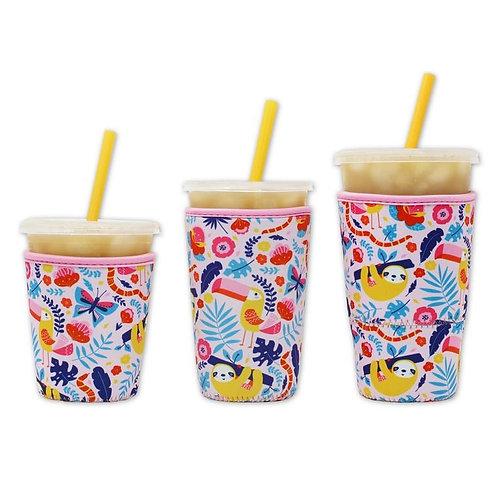 Insulated Drink Sleeve -  Summer Sloth MEDIUM