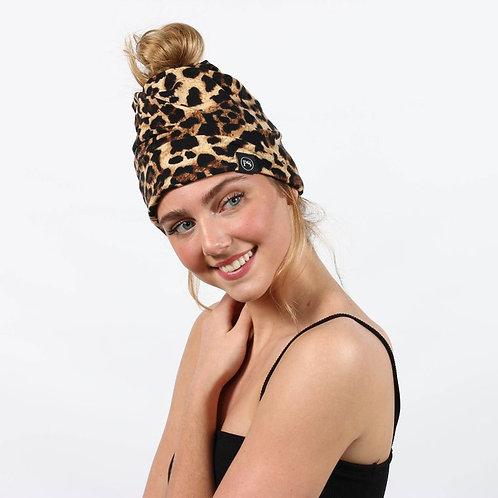 Peek-a-Boo Beanie: Leopard