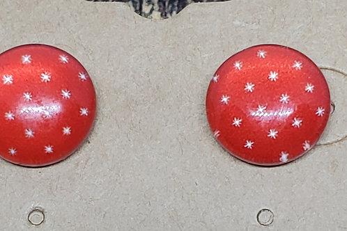 Reddish Brown with White Stars Posts