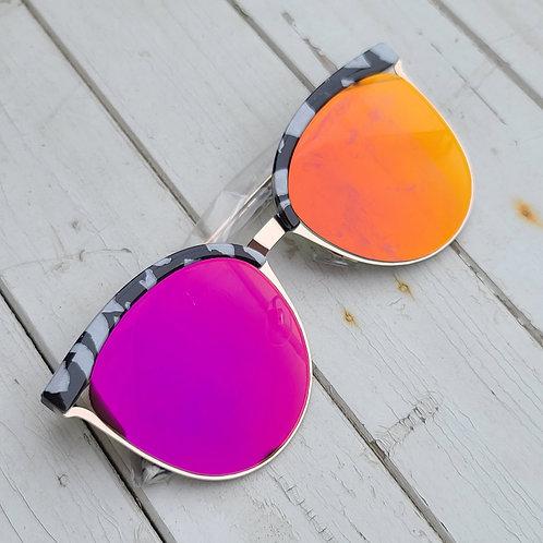 Cat Eye Sunnies - Zebra