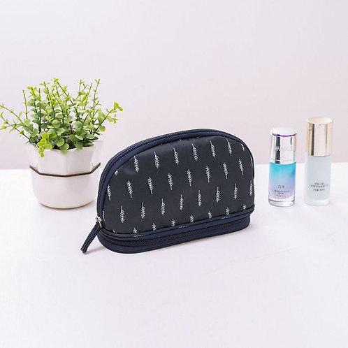 Makeup Bag - Navy Feather