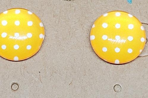Yellow with White Polka Dot Posts
