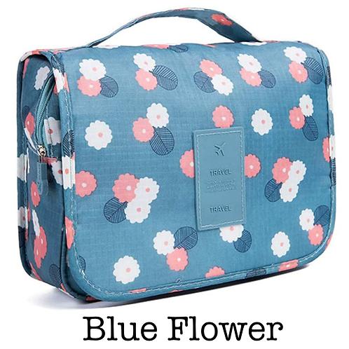 Hanging Toiletry Bag - Blue Flower