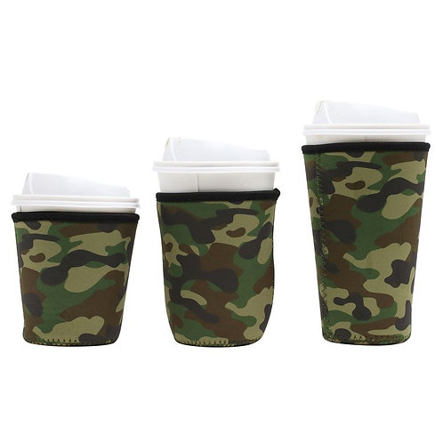 Insulated Drink Sleeve -  Green Camo MEDIUM