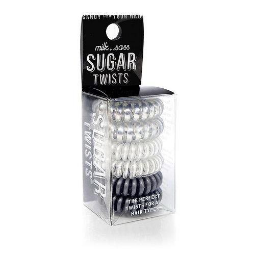Sugar Twists Hair Ties - Silver Candy