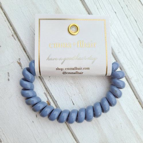Coil Hair Tie - Glossy Slate Blue