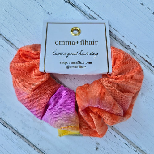 Sunset Tie Dye Jersey Knit Scrunchie
