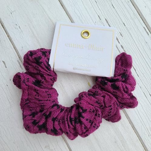 Berry & Black Woven Scrunchie