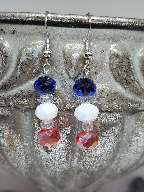 Red, White, & Blue Beads