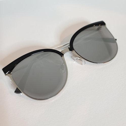 Cat Eye Sunnies - Black & Silver