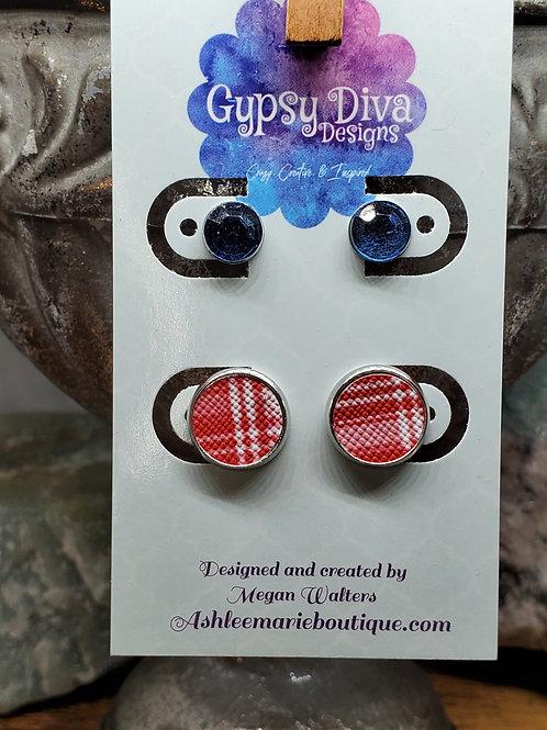 Americana Double Post Earrings