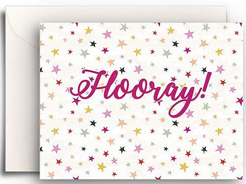 Small Greeting Card - Hooray!