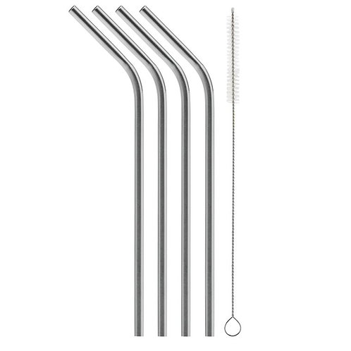 Stainless Steel Straw - 4 pack
