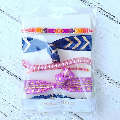 Lavender Nights - Hair Tie Bracelet Stacks