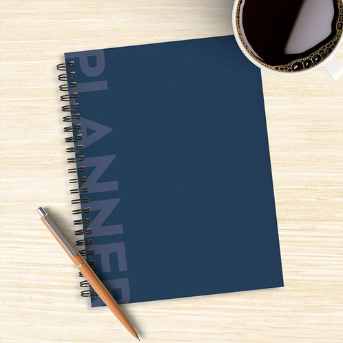 Moody Blue Boho Undated Weekly/Monthly Planner14