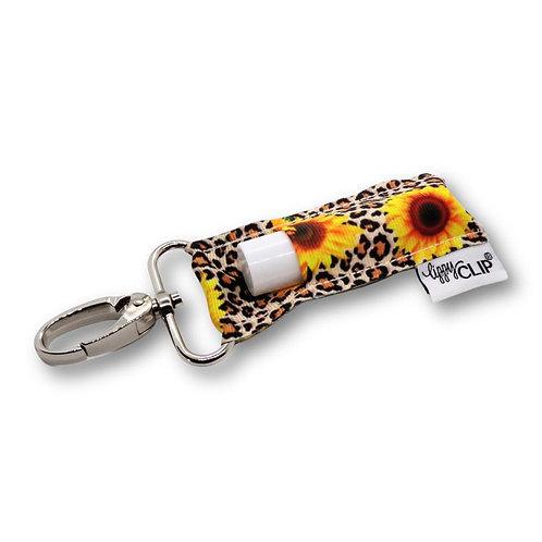 Leopard Sunflower Lippy Clip