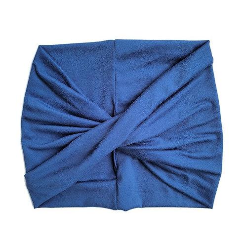 Wide Headband - Denim Blue